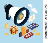 promotion online marketing flat ... | Shutterstock .eps vector #291681293
