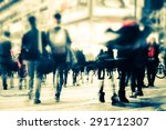 Blurred Image People Moving Crowded - Fine Art prints