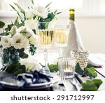 table setting with white... | Shutterstock . vector #291712997