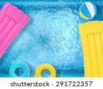 summer fun with inflatable toys ... | Shutterstock . vector #291722357