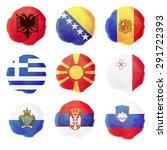set of european watercolor... | Shutterstock .eps vector #291722393