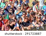 madrid   sep 13  crowd in a... | Shutterstock . vector #291723887
