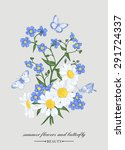 vector vintage card with a... | Shutterstock .eps vector #291724337