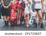 Small photo of MILAN, ITALY - JUNE 27: People at gay pride parade in Milan JUNE 27, 2015. Thousands of people march in the city streets for the annual gay pride parade, claiming equality and legal rights.