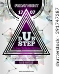 night club flayer template with ... | Shutterstock .eps vector #291747287