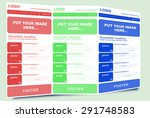 newsletter template for...   Shutterstock .eps vector #291748583