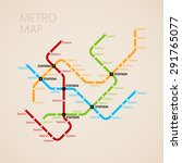 metro  subway  map design... | Shutterstock . vector #291765077