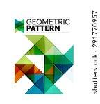 geometric triangle mosaic... | Shutterstock . vector #291770957