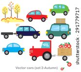 set of vector objects autumn...