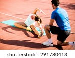 woman training with personal... | Shutterstock . vector #291780413