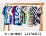 dressing closet with clothes... | Shutterstock . vector #291783503