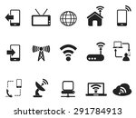 black telecom icons set | Shutterstock .eps vector #291784913