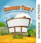 summer holidays beach landscape ... | Shutterstock .eps vector #291790343