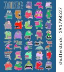 thirty three doodle icons... | Shutterstock . vector #291798527
