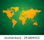 world map political orange... | Shutterstock .eps vector #291809453