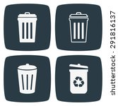 trash can icons | Shutterstock .eps vector #291816137