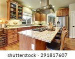 perfect kitchen with hardwood... | Shutterstock . vector #291817607