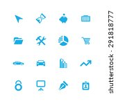 company icons universal set for ... | Shutterstock . vector #291818777