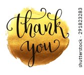 thank you hand lettering on... | Shutterstock .eps vector #291823283