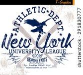 new york vintage graphic for t... | Shutterstock .eps vector #291830777