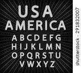 vector set retro neon sign ... | Shutterstock .eps vector #291832007