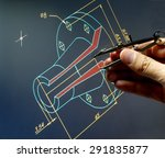 engineer working on a cad design | Shutterstock . vector #291835877