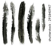 gray brush strokes  ink... | Shutterstock .eps vector #291840947