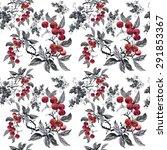 watercolor garden rowan plant... | Shutterstock . vector #291853367