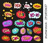 set comics speech bubble social ... | Shutterstock .eps vector #291853637
