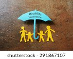 paper family of four under a... | Shutterstock . vector #291867107
