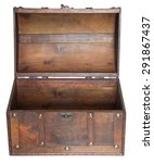 old open chest isolated on...
