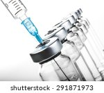 glass medicine vials botox and... | Shutterstock . vector #291871973