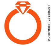 diamond ring icon from commerce ... | Shutterstock .eps vector #291886097