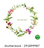 wreath border frame with summer ... | Shutterstock .eps vector #291899987