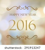 happy new year 2016 year on... | Shutterstock . vector #291913247
