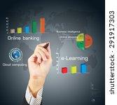 business hand writing a... | Shutterstock . vector #291917303