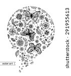 amazing fly butterflies ... | Shutterstock .eps vector #291955613