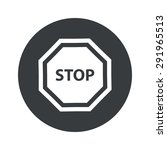 image of stop sign in black...