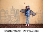happy child playing at home.... | Shutterstock . vector #291969803