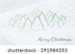 merry christmas card with blue...   Shutterstock .eps vector #291984353