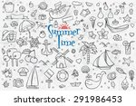 a big hand drown set on white ... | Shutterstock .eps vector #291986453