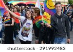 sofia   june 27  1000 people... | Shutterstock . vector #291992483