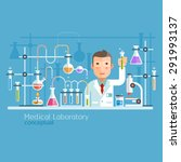 medical laboratory conceptual.... | Shutterstock .eps vector #291993137