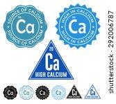 excellent source of calcium ... | Shutterstock .eps vector #292006787