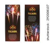 festive firework 2 vertical... | Shutterstock .eps vector #292008107
