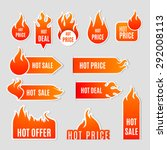 fire and flame sale clearance... | Shutterstock .eps vector #292008113