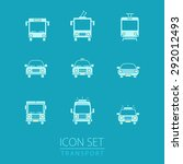 transport icons set. vehicle... | Shutterstock .eps vector #292012493
