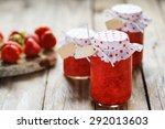 fresh strawberry homemade jam...   Shutterstock . vector #292013603