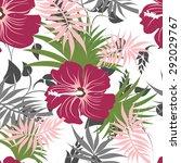 vector seamless floral flowers... | Shutterstock .eps vector #292029767