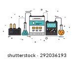 thin line flat design of... | Shutterstock .eps vector #292036193